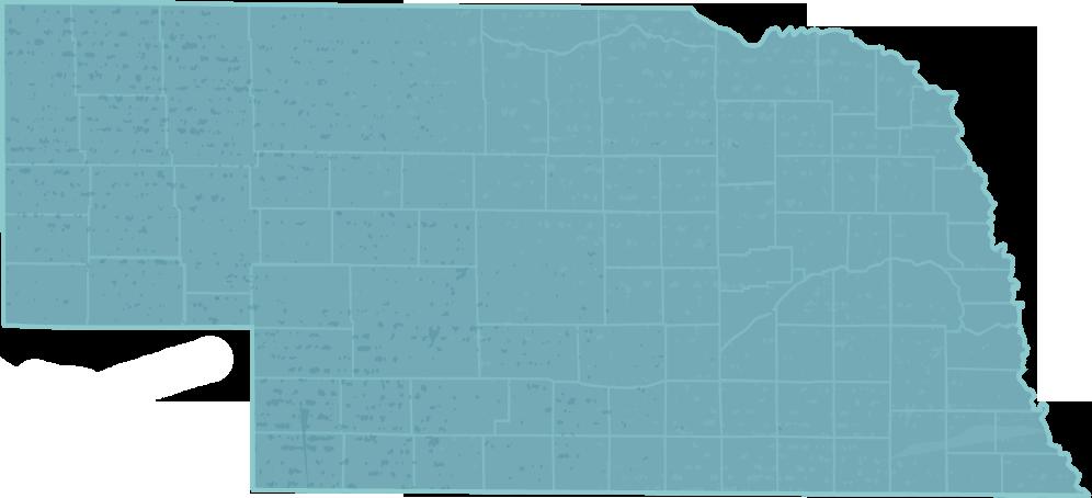 Nebraska Map by Nebraska Traveler