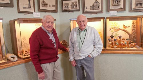 Howard and Harvey Kenfield - Owner of Petrified Wood Gallery, Ogallala